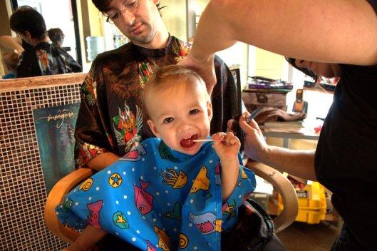 2012 08 12 First Haircut