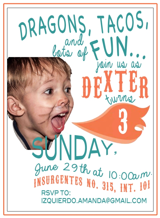 Invitation Dexter 3